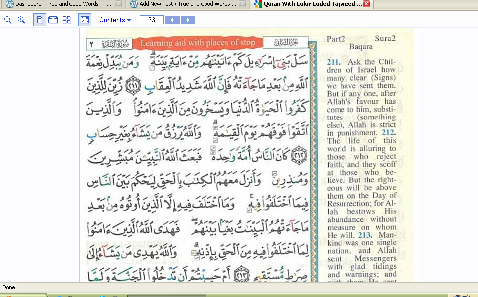 Quran With Colour-Coded Tajweed Rules on Google Books